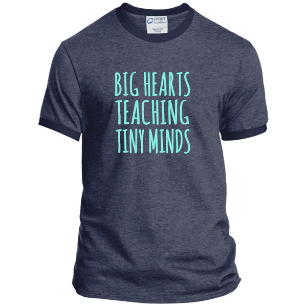 Big Hearts Teaching Tiny Minds Ringer Tee - TeachersLoungeShop - 5