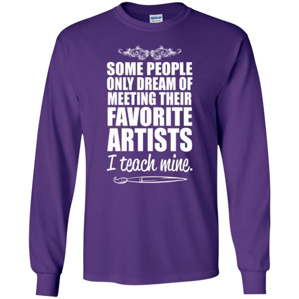 Favourite Artists i Teach Mine LS Tshirt - TeachersLoungeShop - 7
