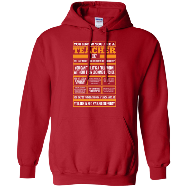 You know You are a Teacher if  Hoodie 8 oz - TeachersLoungeShop - 9