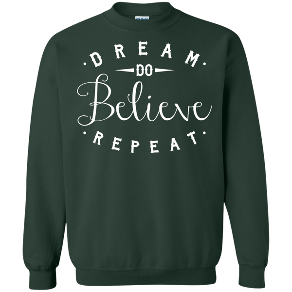 Dream Do Believe Repeat   Crewneck Pullover Sweatshirt  8 oz - TeachersLoungeShop - 5