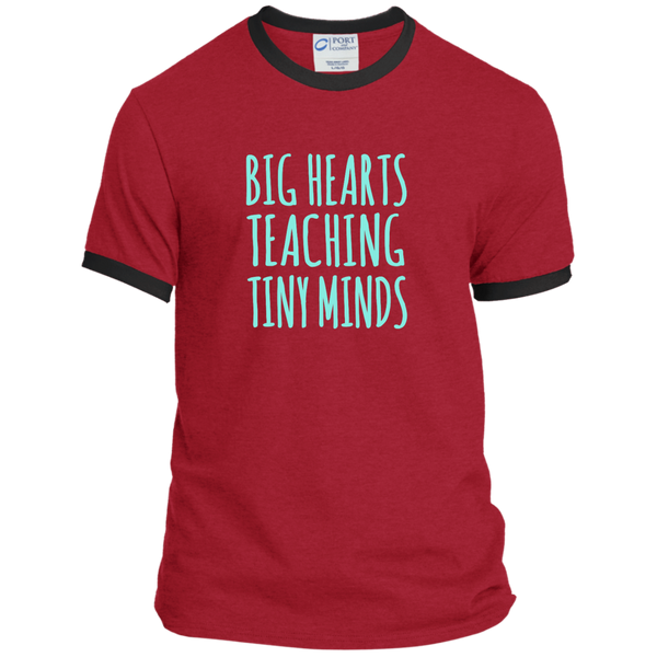 Big Hearts Teaching Tiny Minds Ringer Tee - TeachersLoungeShop - 7