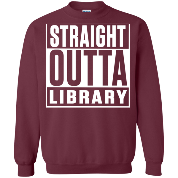 Straight Outta Library Pullover Sweatshirt  8 oz - TeachersLoungeShop - 2