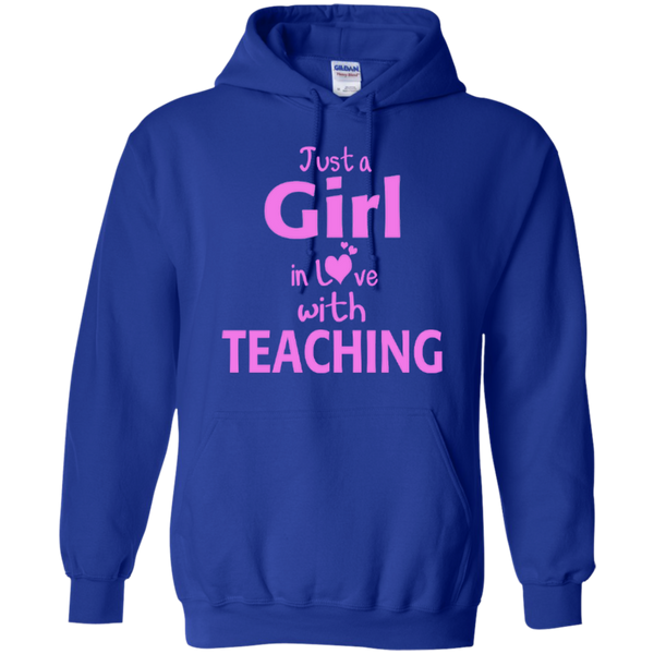 Just a Girl in Love with Teaching T-shirt Hoodie - TeachersLoungeShop - 11