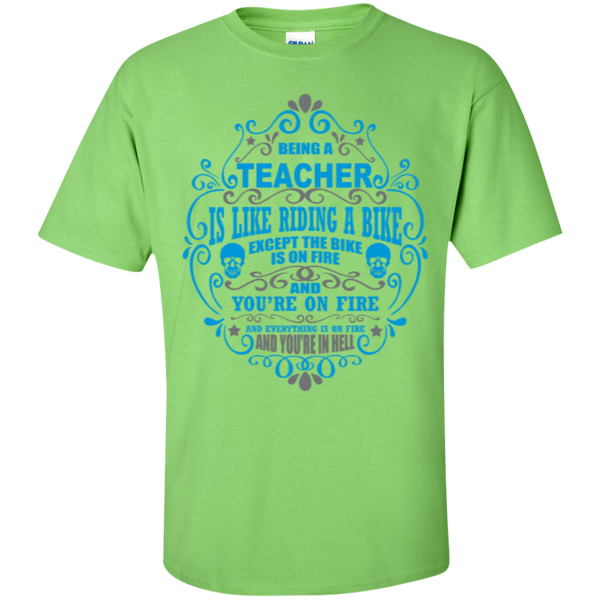 Being a Teacher is like Riding a Bike Teacher T-shirt Hoodie - TeachersLoungeShop - 5