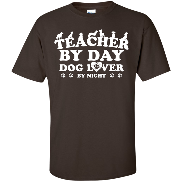 Teacher By Day Dog Lover by Night T-Shirt - TeachersLoungeShop - 8