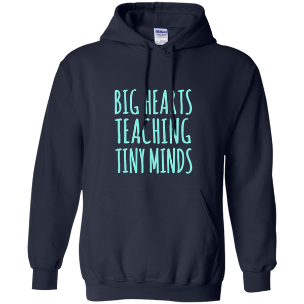 Big Hearts Teaching Tiny Minds Pullover Hoodie 8 oz - TeachersLoungeShop - 2
