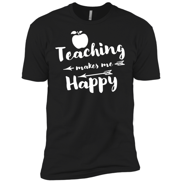 Teaching makes me Happy    Level Premium Short Sleeve Tee - TeachersLoungeShop - 2