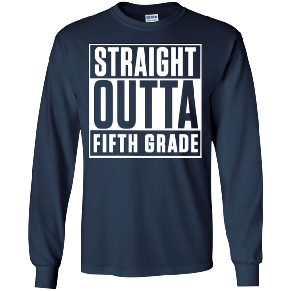 Straight Outta Fifth Grade LS  Cotton Tshirt - TeachersLoungeShop - 6