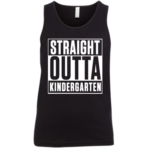 Straight outta Kindergarten   Bella + Canvas Youth Jersey Tank