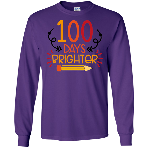 100 Days Brighter  LS Tshirt