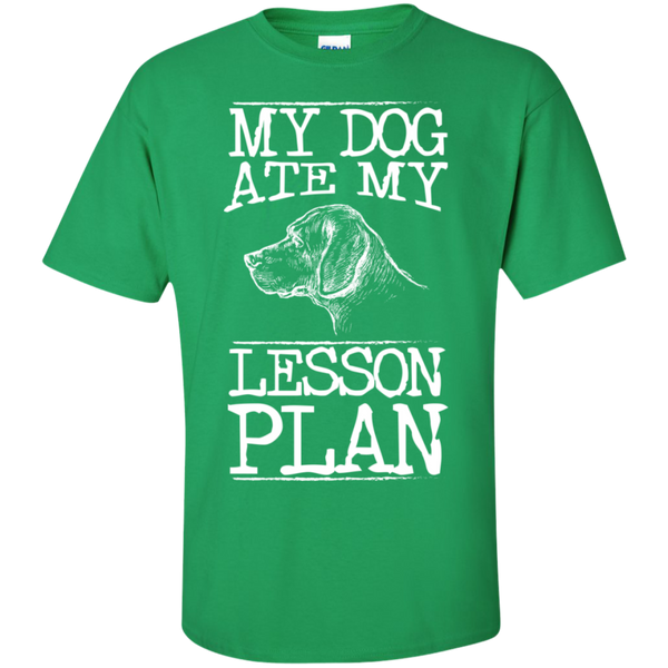 My Dog Ate my Lesson Plan  Cotton T-Shirt - TeachersLoungeShop - 8