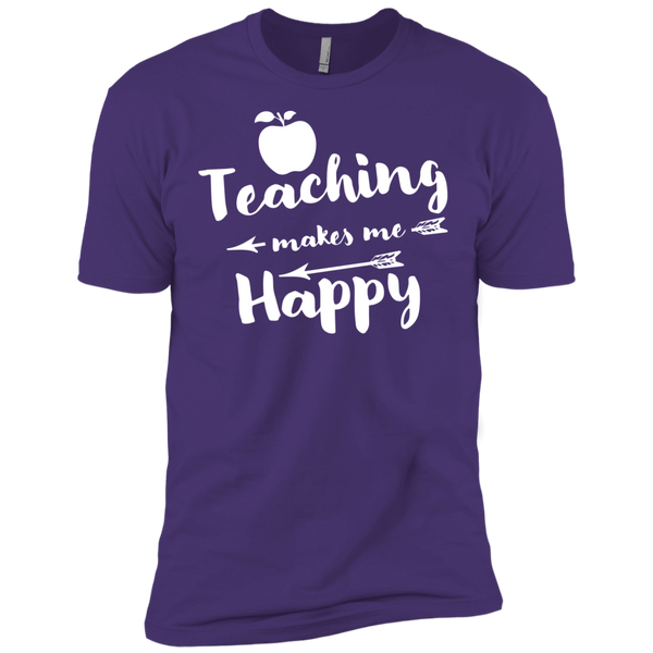 Teaching makes me Happy    Level Premium Short Sleeve Tee - TeachersLoungeShop - 8