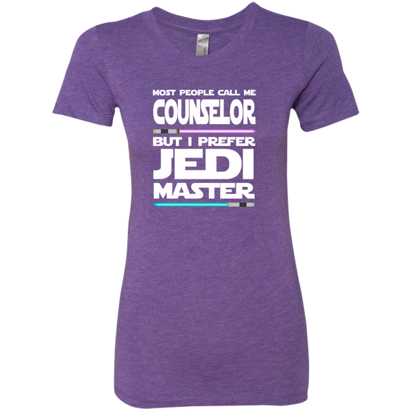 Most People Call Me Counselor But I Prefer Jedi Master Next Level Ladies Triblend T-Shirt - TeachersLoungeShop - 3