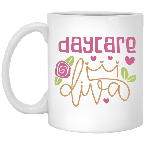 Day Care Diva 11 oz. White Mug
