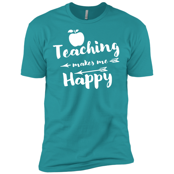 Teaching makes me Happy    Level Premium Short Sleeve Tee - TeachersLoungeShop - 11
