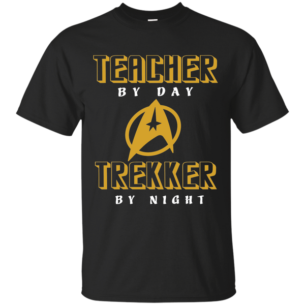 Teacher By Day Trekker By Night Cotton T-Shirt - TeachersLoungeShop - 1