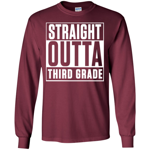 Straight Outta Third Grade LS Cotton Tshirt - TeachersLoungeShop - 4