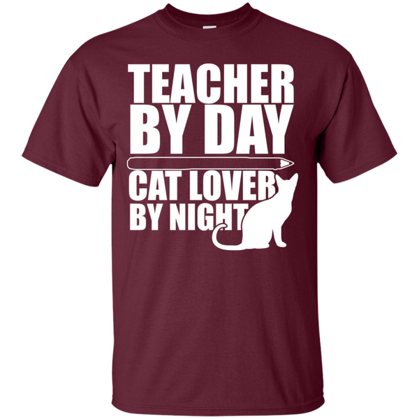 Teacher by Day Cat Lover by Night  T-Shirt - TeachersLoungeShop - 2