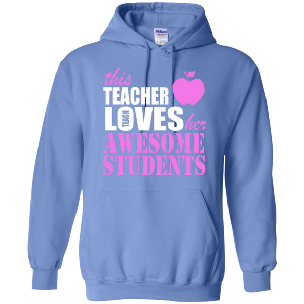 This Teacher Loves her Awesome Students T-shirt Hoodies - TeachersLoungeShop - 9