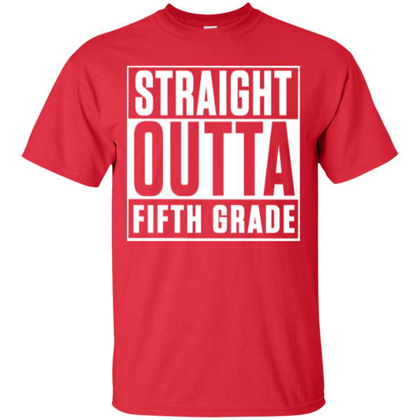 Straight Outta Fifth  Grade   T-Shirt - TeachersLoungeShop - 8