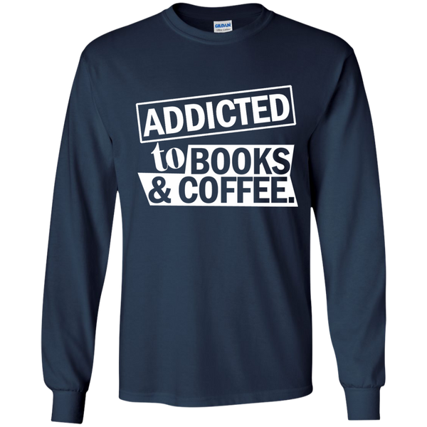 Addicted to Books and Coffee LS Ultra Cotton Tshirt - TeachersLoungeShop - 11