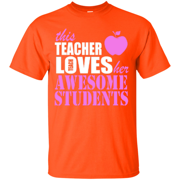 This Teacher Loves her Awesome Students T-shirt Hoodies - TeachersLoungeShop - 2