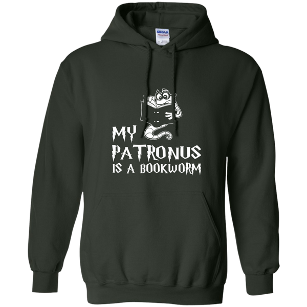 My Patronus is a Book Worm Pullover Hoodie 8 oz - TeachersLoungeShop - 7