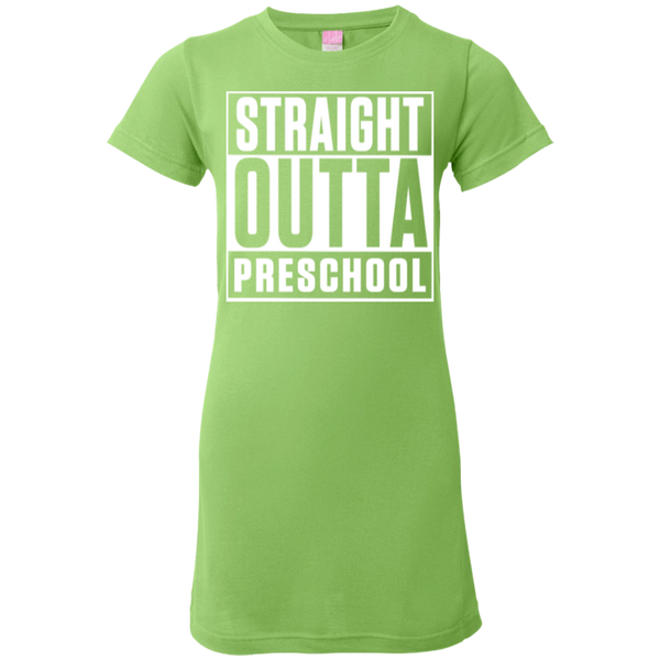 Straight Outta Preschool Junior  Custom Fine Jersey Tshirt - TeachersLoungeShop - 8