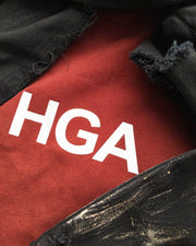 HGA Red Distressed Bleached Hoodie