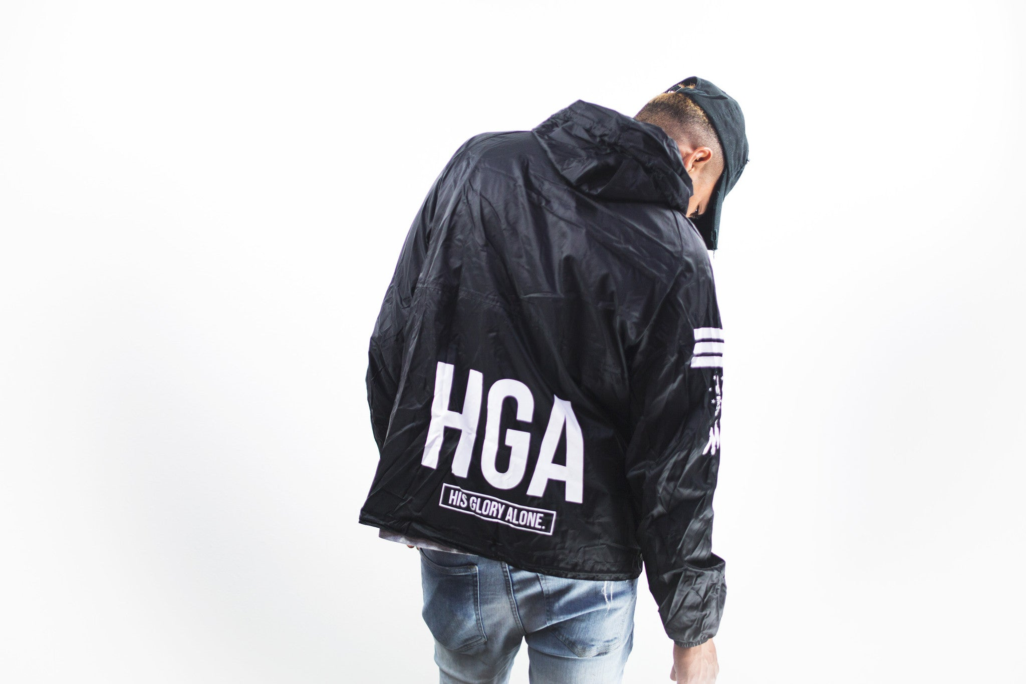 KB HGA Black Windbreaker