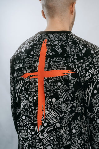 HGA All Over Print Reflective Sweater
