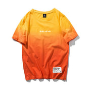 HGA Believe Orange Dipped Tee