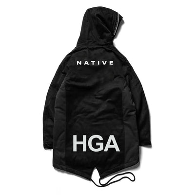 HGA Black Anorak Flight Jacket