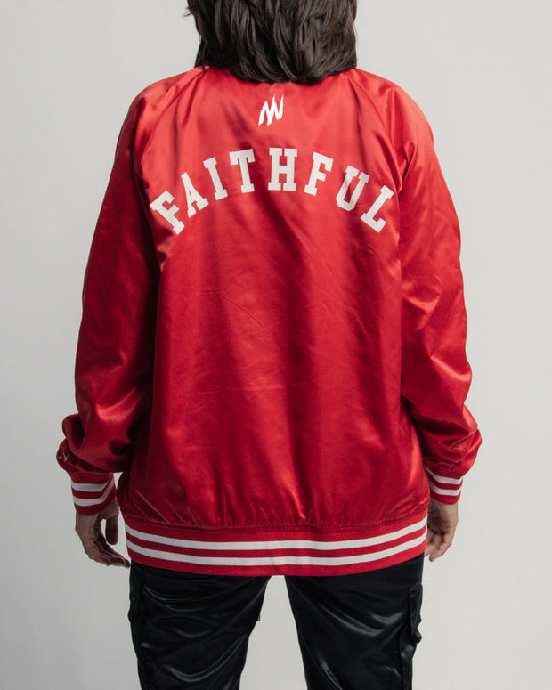 HGA Faithful Red Satin Jacket