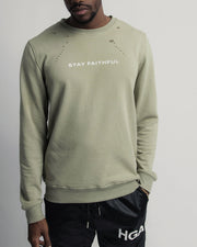 HGA Stay Faithful Distressed Sweater