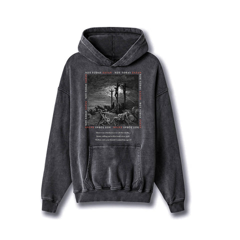 HGA Not Today Satan Hoodie - Vintage Black
