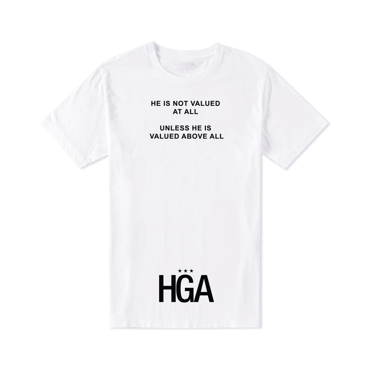 HGA Value Him White Tee