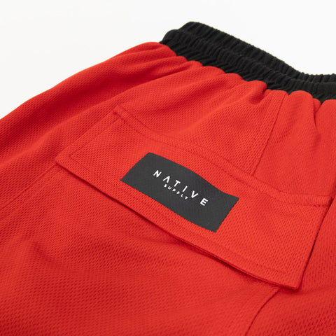 HGA Red Basketball Shorts