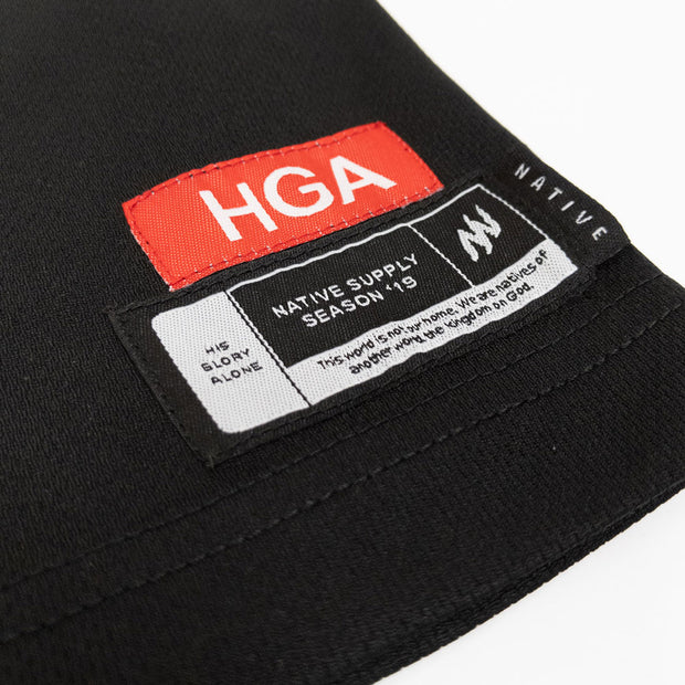 HGA Black Basketball Jersey
