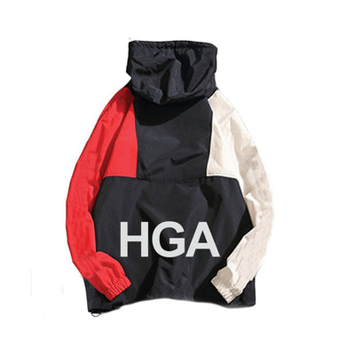 HGA Patchwork Windbreaker