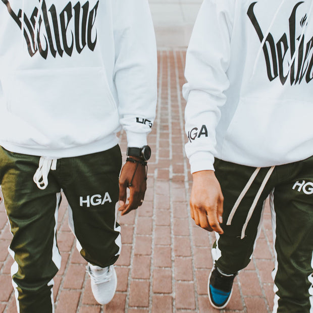 HGA Green Ankle Zip Pants