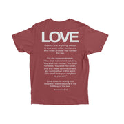 HGA Love Tee - Brick Red