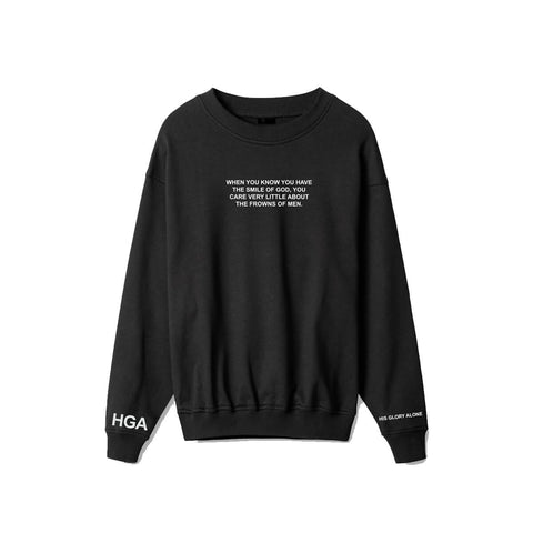 HGA Smile of God Crewneck Black