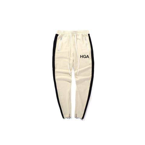 HGA Off-White Zipper Track Joggers