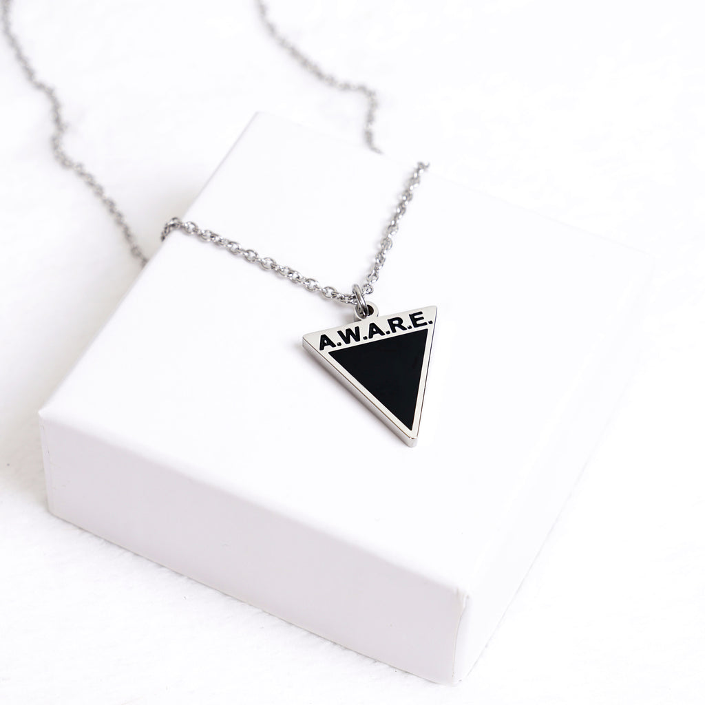AWARE Black Necklaces - Causes - Silver