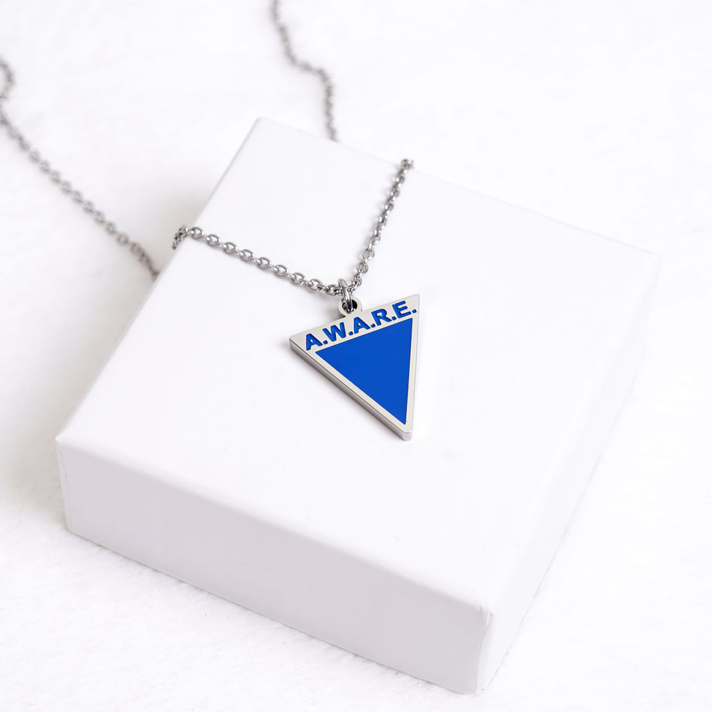 AWARE Blue Necklaces - Silver