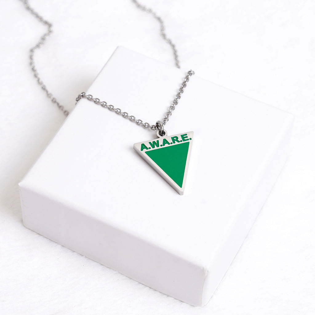 AWARE Green Necklaces - Silver