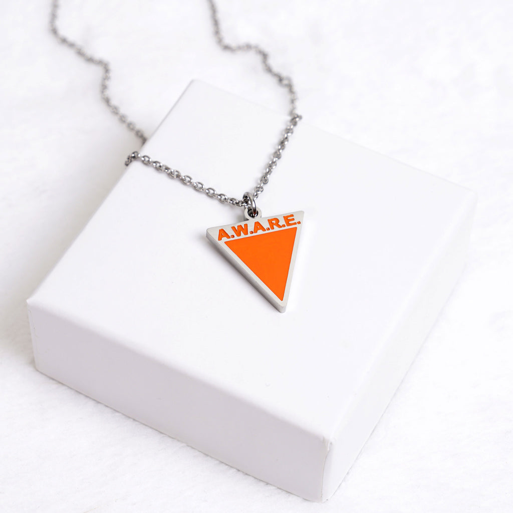 AWARE Orange Necklaces - Causes - Silver