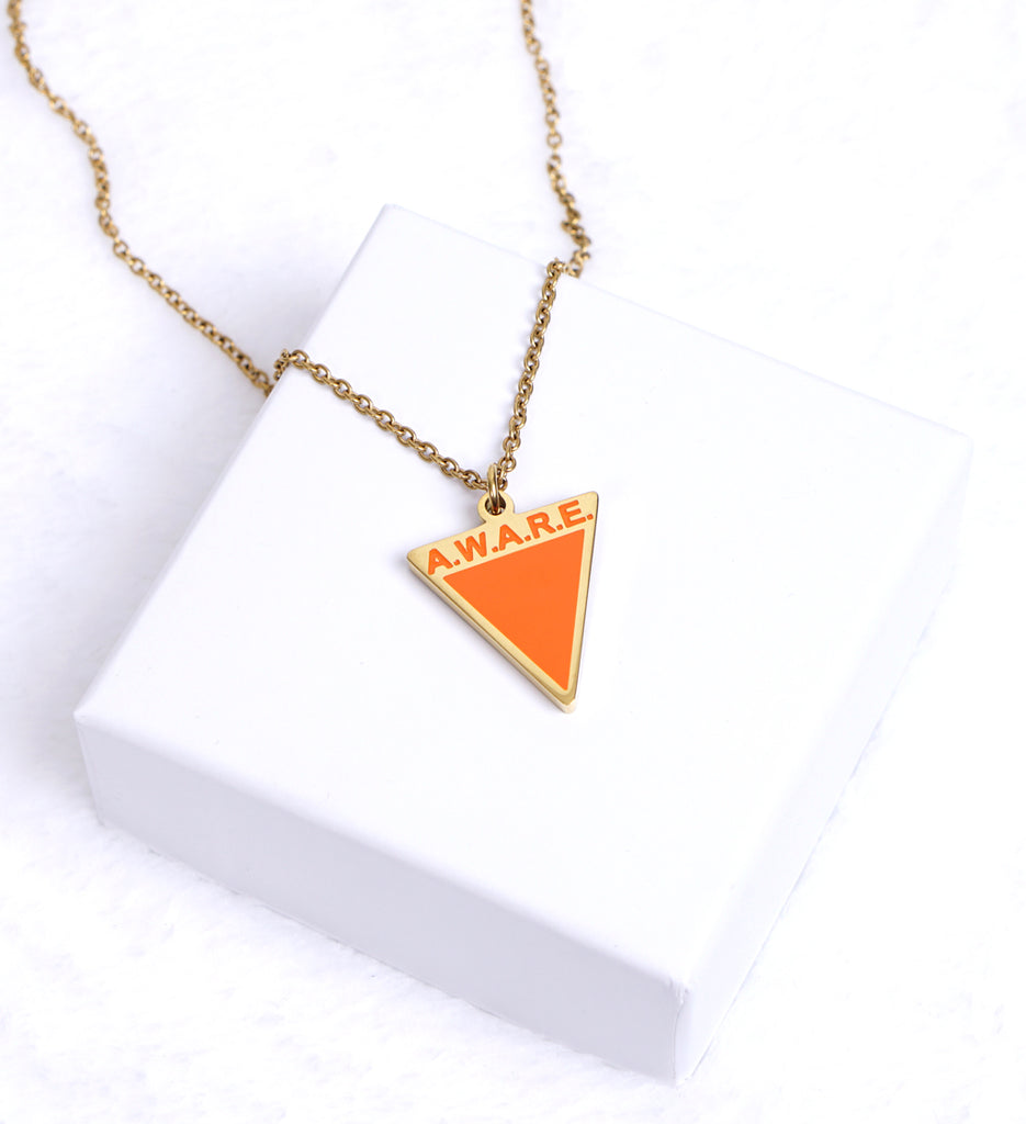 AWARE Orange Necklaces - Causes