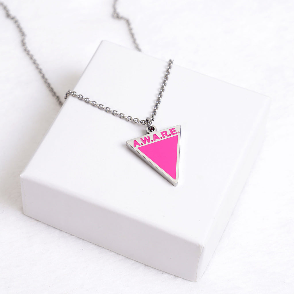 AWARE Pink Necklaces - Causes - Silver